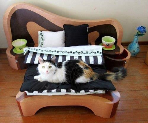 Кровать для кошек своими руками
