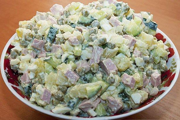 Салат оливье с курицей название