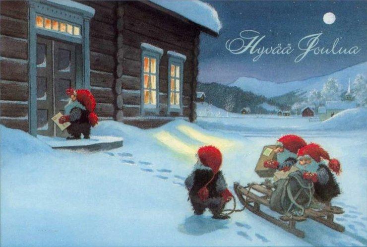 Прикольные смешные, финские открытки на рождество