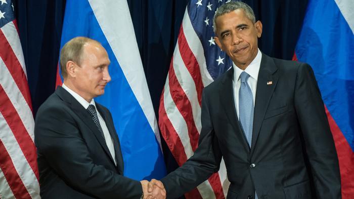 Перед началом саммита G20Путин сОбамой пожали друг другу руки
