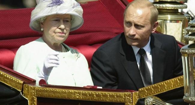 Картинки по запросу путин и королева великобритании