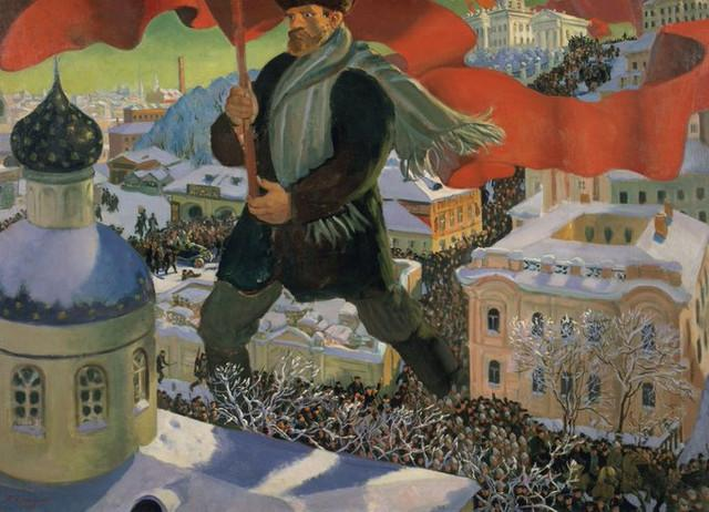 The-Bolshevik-painting-by-Boris-Kustodiev-Soviet-Russia-1920
