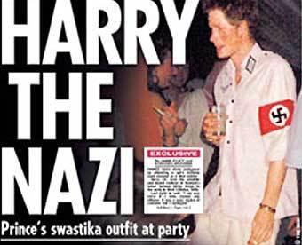 Принц Гарри на костюмированной вечеринке. Фото из газеты Sun