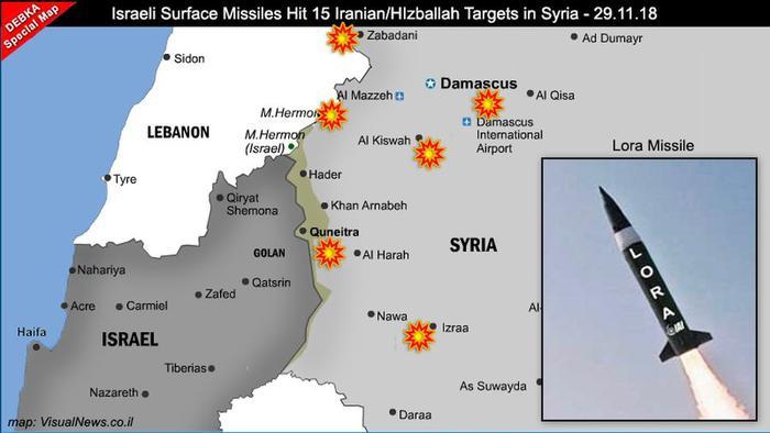 Крупнейшая в мире наземная ракетная атака на Сирию нацелилась на 15 объектов Ирана и Хезболлы