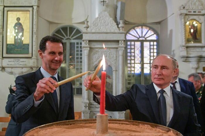 Путин и Асад в Сирии