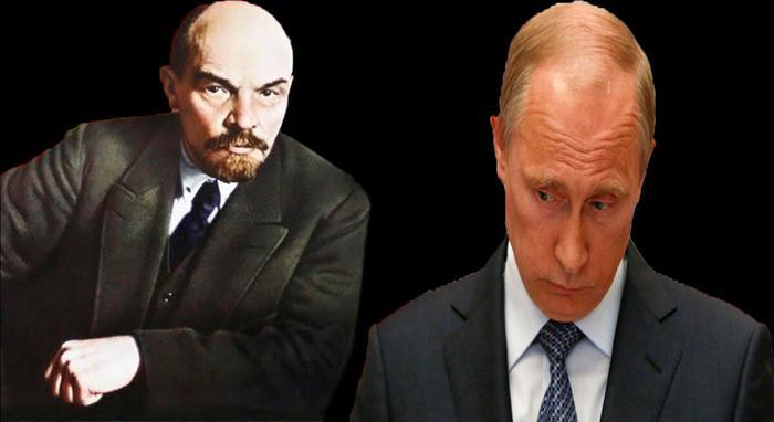 Владимир Ленин и Владимир Путин