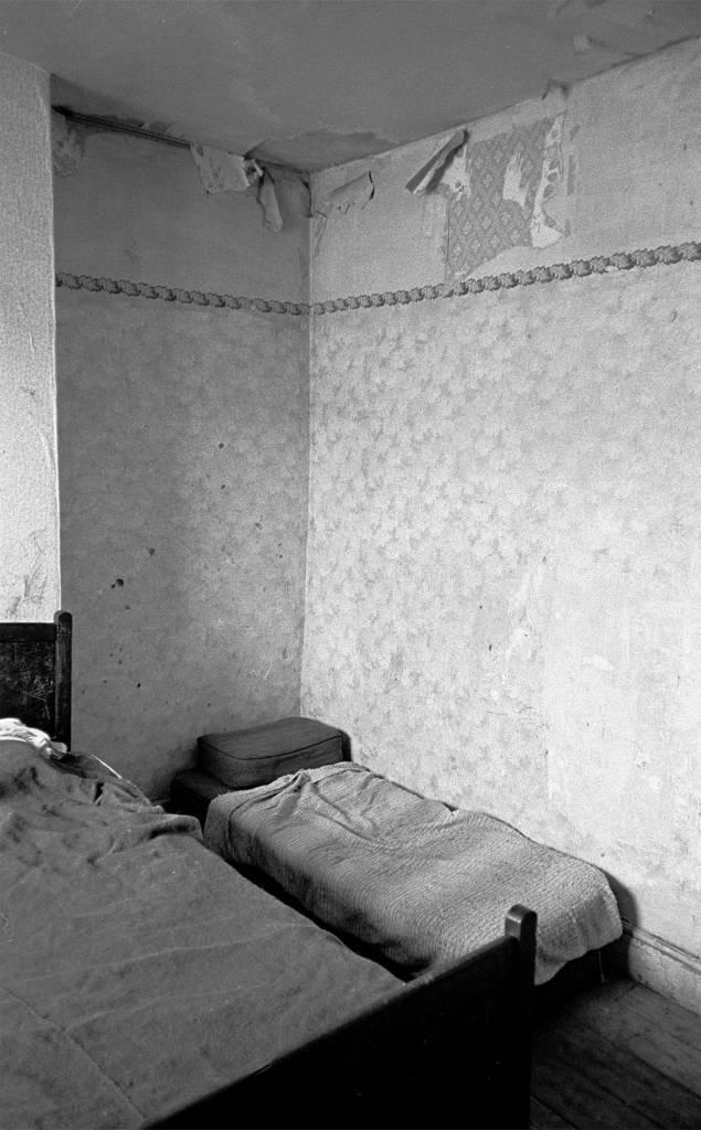 Bedroom in Saltley slum 1971