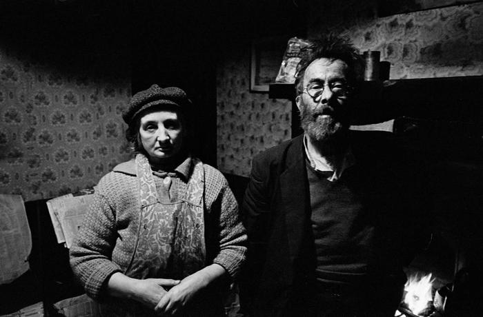 Elderly couple left behind after slum clearence, Ladywood 1969