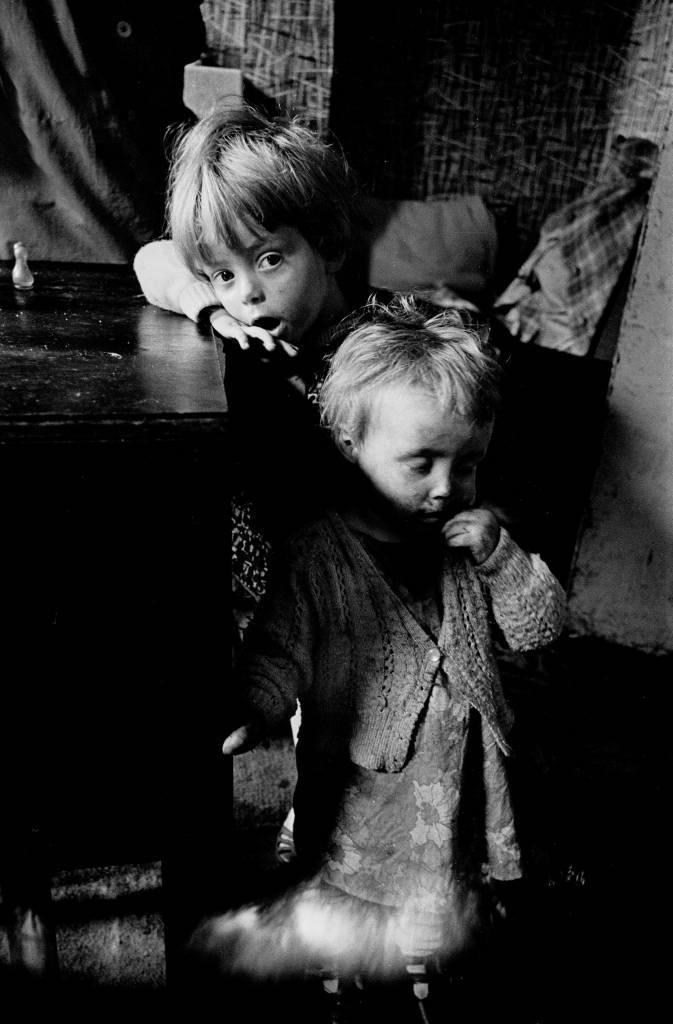 Children in slum property, Winson Green