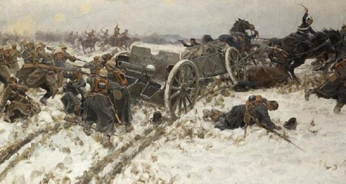 «Боевое столкновение». (1915). Автор: Иван Владимиров.