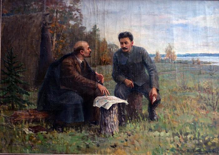 Ленин и Сталин в Разливе. Автор: Иван Владимиров.
