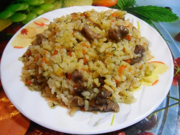Рис с грибами 0