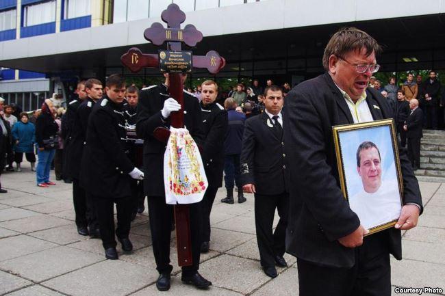 Похороны Вячеслава Маркина. Одесса, 5 мая 2014 года