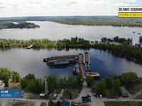 На строительство моста в Кременчуге прибывает техника из Турции, продолжаются геологоразведочные работы на воде - ОГА