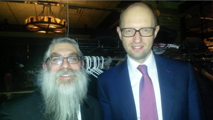 Яценюк и его духовный наставник на сионистском сборище в Умане