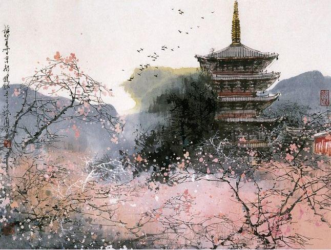 Akvarel-peyzazhi.-Hudozhnik-Liu-Maoshan.-Akvarel-trinadtsataya