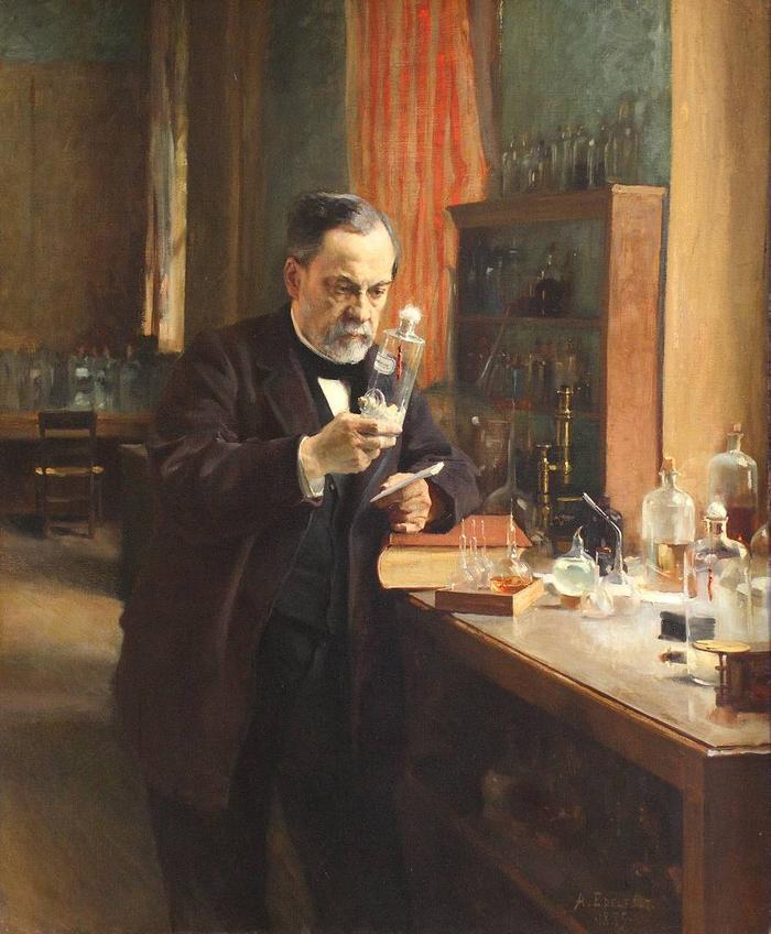 Альберт Эдельфельт. Портрет Луи Пастера. 1885