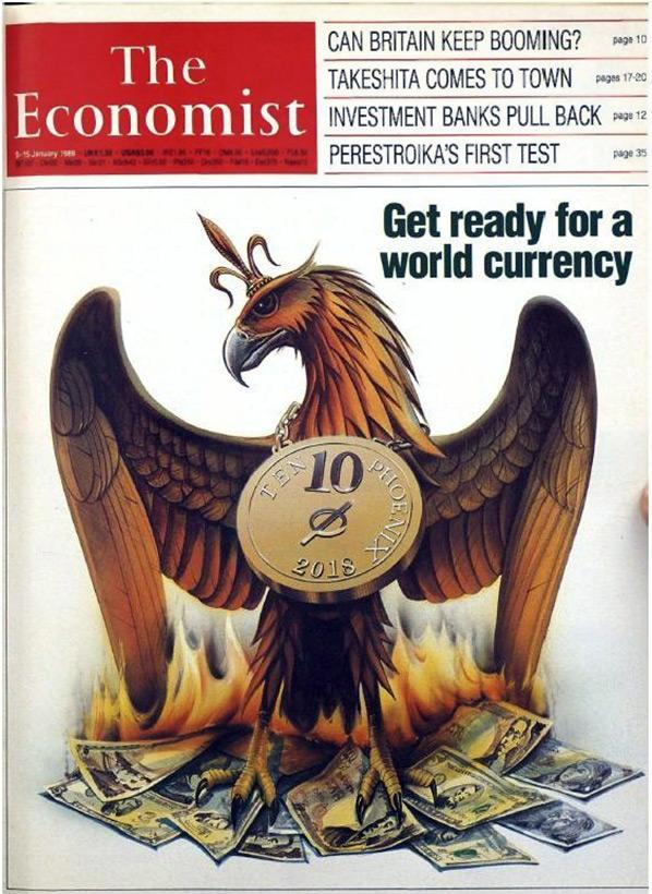 Обложка журнала The Economist за январь 1988 года