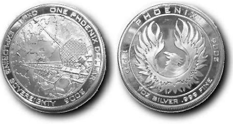 Серебряный доллар Феникс