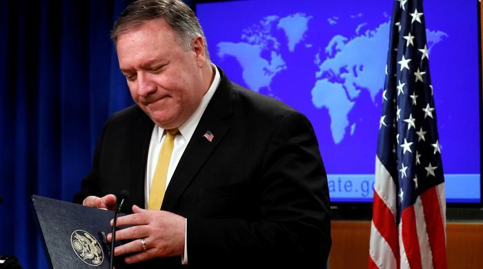 Госсекретарь США Майк Помпео во время пресс-конференции в Вашингтоне, 8 июля 2019 года