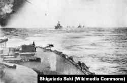 Вид с японского корабля, 27 мая 1905 года