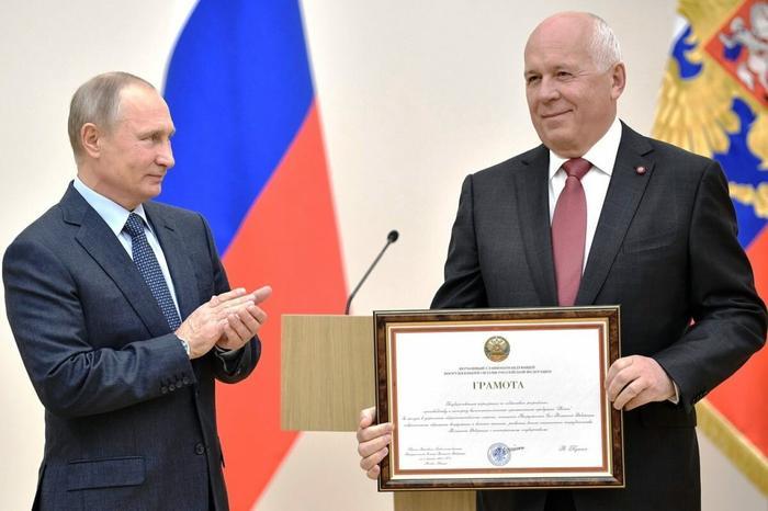 Фото взято из интернета в открытом доступе. Сергей Чемезов и Путин.