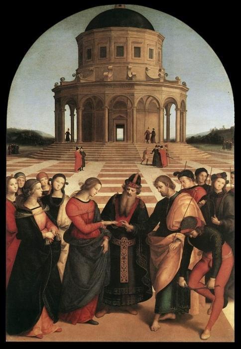 Обручение Девы Марии. Рафаэль Санти, 1504 г.