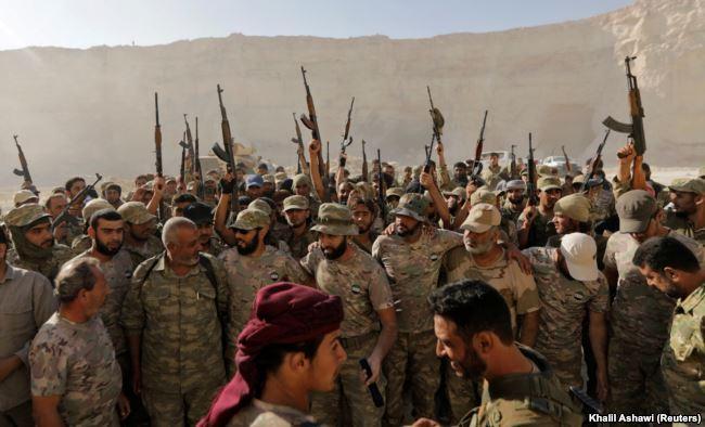 Бойцы Свободной сирийской армии. Ноябрь 2017 года