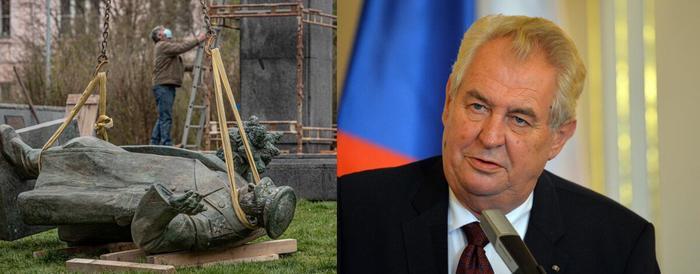 Странная Чехия: сначала на место Коневу поставили унитаз, сейчас просят срочно прислать СпутникV.