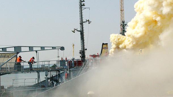 Взрыв на борту российского танкера в Варне