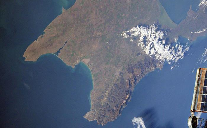 Вид на Крым из космоса