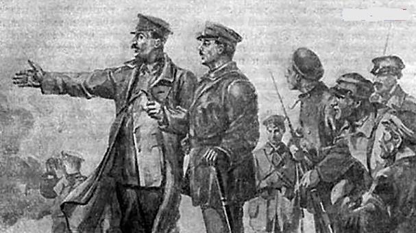 Судя по советской живописи, Коба не вылезал с переднего края. (фото из открытых источников)