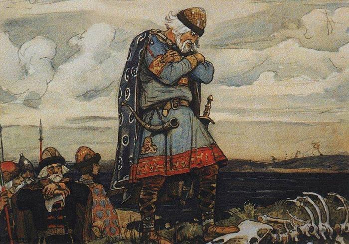 Вещий Олег над костями коня. Васнецов В.М.