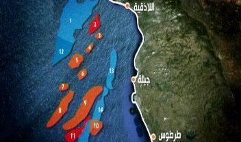 14 нефтяных полей на шельфе Сирии