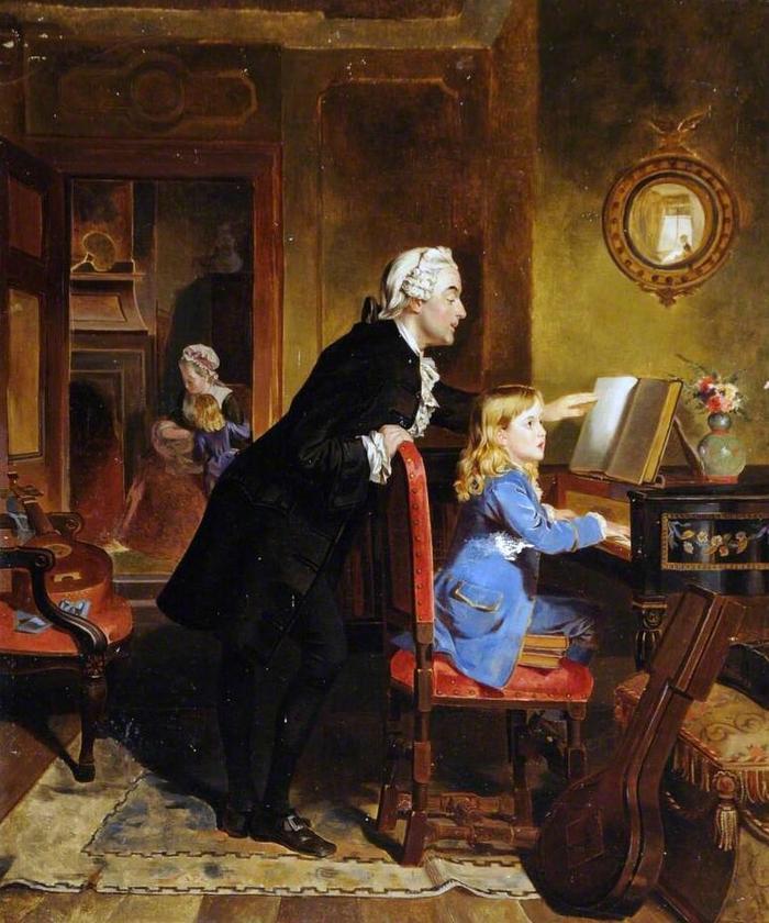"""Эбенезер Кроуфорд """"Юный Моцарт и его отец Леопольд во время занятий музыкой"""""""