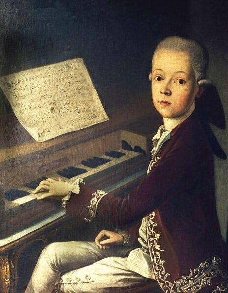 """Неизвестный художник """"Моцарт в детстве"""""""