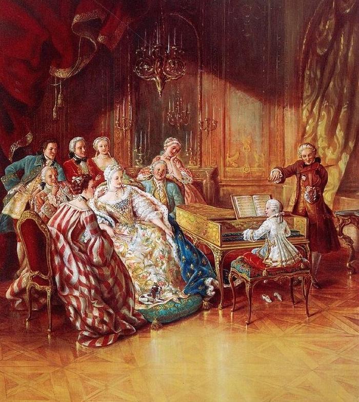 Моцарт играет в салоне богатой дамы