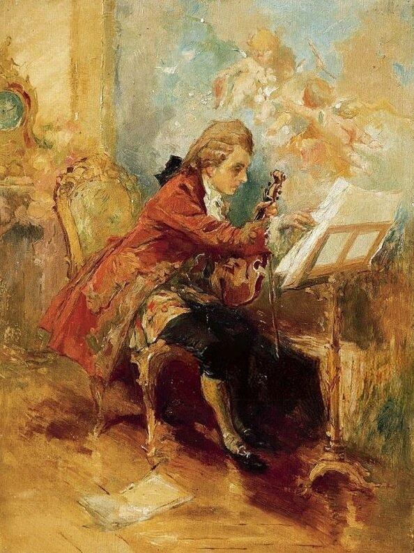 Моцарт в процессе творчества