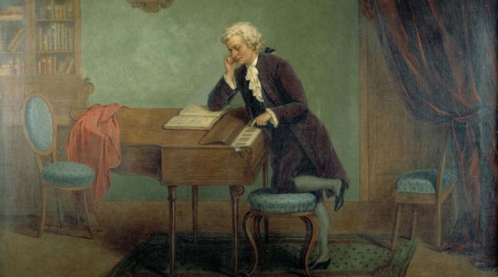 Моцарт у клавесина