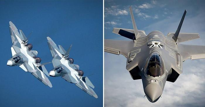 Картинки по запросу Су-57 F-35 сравнение фото
