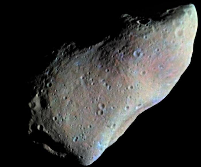 """Снимок астероида Гаспра с межпланетной станции """"Галилео"""""""