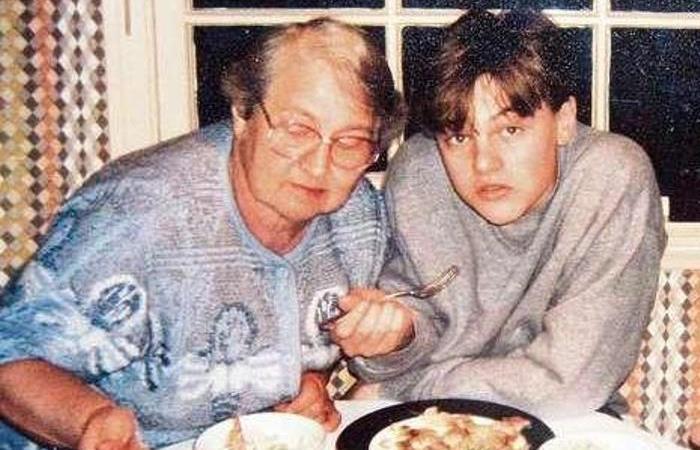 Леонардо ди Каприо со своей одесской бабушкой   Фото: videoboom.cc
