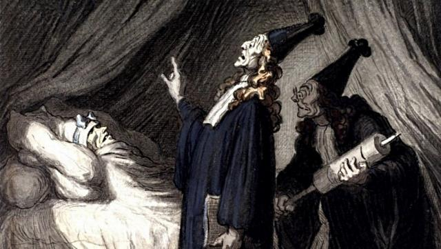 О. Домье. Мнимый больной. 1850