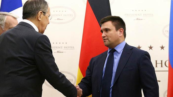 Главы МИД России и Украины Сергей Лавров и Павел Климкин