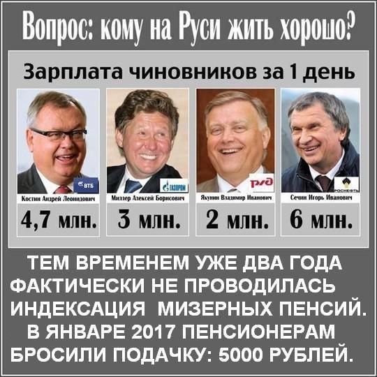 Кому на Руси жить хорошо: шайка путинских воров освободила себя от уплаты налогов