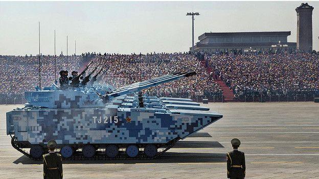 На параде китайской армии
