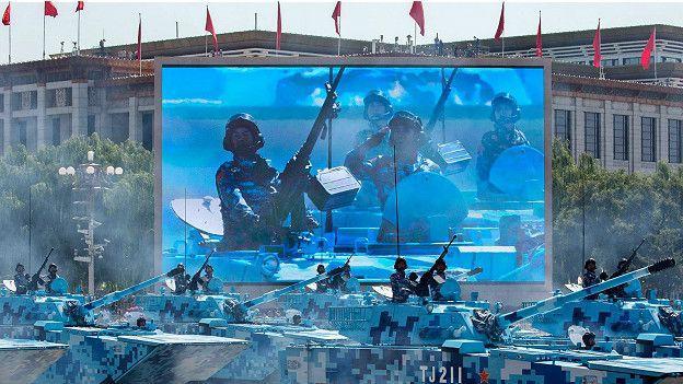 Парад китайской армии
