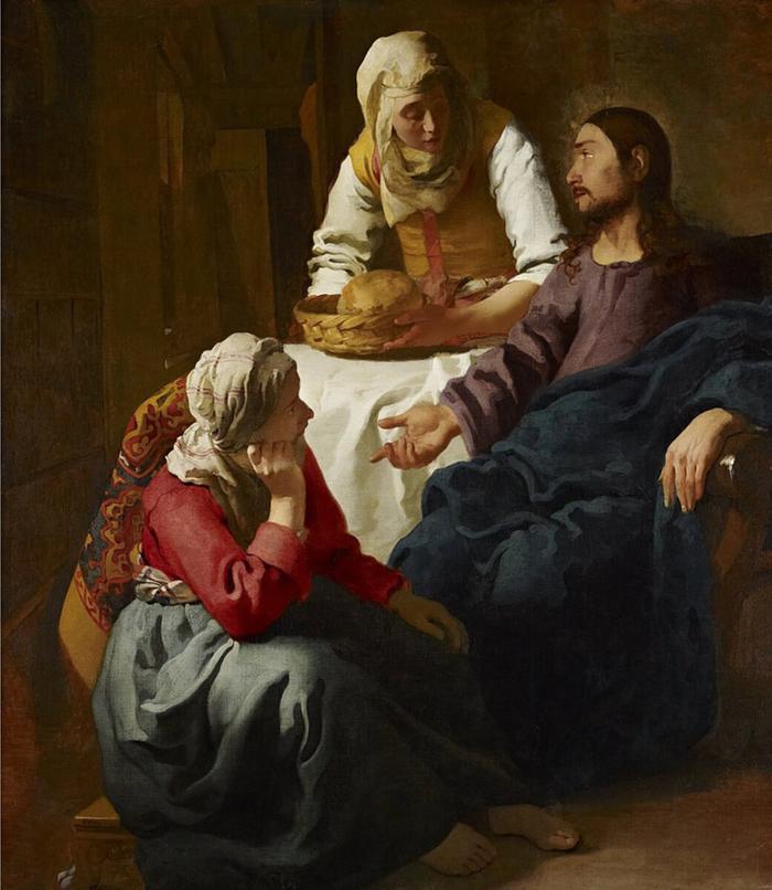 ЯнВермеер «Христос вдоме Марфы иМарии».