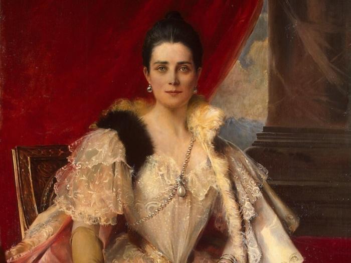 Ф. Фламенг. Портрет княгини З. Н. Юсуповой, 1894. Фрагмент | Фото: liveinternet.ru