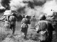 Советские танки атакуют. Район Прохоровки. 12 июля 1943 года